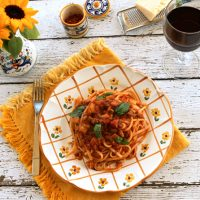 Pasta With Sausage & Eggplant Sauce