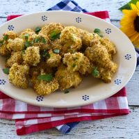 Baked Breaded Cheesy Cauliflower