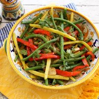 Mixed Green & Wax Beans With Onions & Peppers