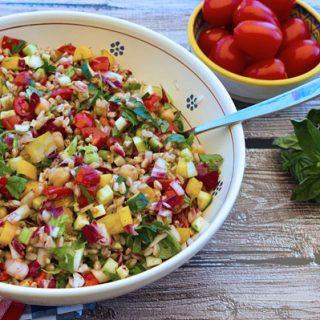 Italian Chopped Salad With Farro & Chickpeas