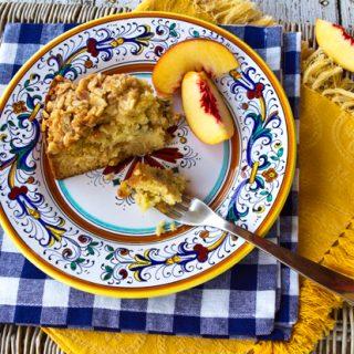 Ricotta Peach Crumb Cake