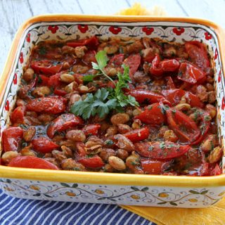 Roasted Summer Tomatoes With Beans