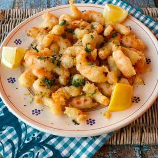Crispy Fried Shrimp With Spicy Gremolata Topping