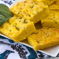 Pumpkin Focaccia With Fresh Sage & Sea Salt