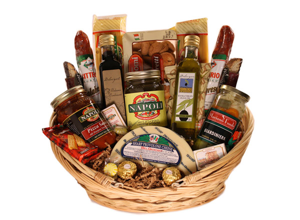 Food gift baskets food italian gift basket giveaway from mariano foods retail value negle Choice Image