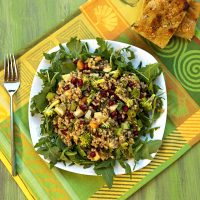 Farro Salad With Broccoli, Apples & Pomegranate Arils