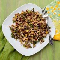 Quinoa Salad With Pears, Toasted Hazelnuts, & Cranberries