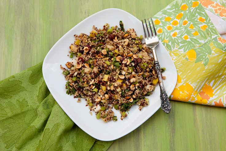 A nutty, earthy blend of ingredients are used to create this tasty salad.