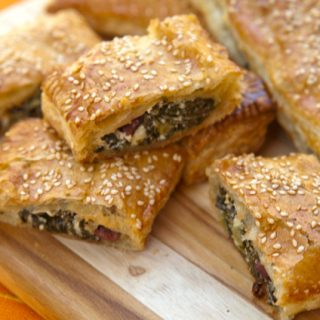 Puff Pastry Rolls With Kale, Ricotta, & Feta
