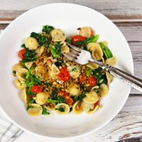 Orecchiette With Broccoli Rabe, Tomatoes, & Anchovy Breadcrumbs