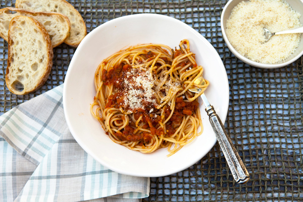 A full flavored Bolognese sauce made with vegetables in place of meat.