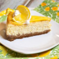 Limoncello Cheesecake With Lemon Curd Topping
