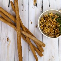 Whole Wheat Walnut Breadsticks