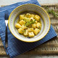Lemon Ricotta Gnocchi In Butter Thyme Sauce