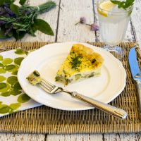 Caramelized Onion, Zucchini, & Pancetta Quiche