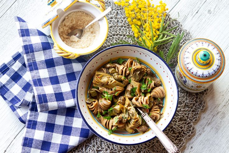 A traditional Umbrian pasta dish using spring artichokes.