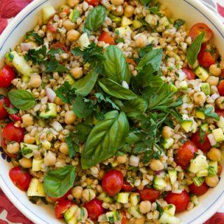 Garden Vegetable & Herb Farro Salad