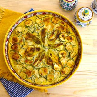 Zucchini, Ricotta, & Egg Pie