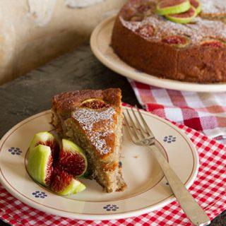 Banana Fig Spelt Cake