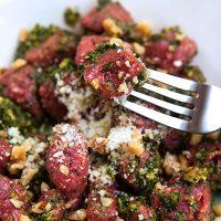 Beet & Potato Gnocchi With Kale Pesto