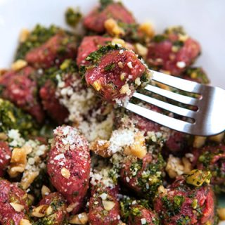 Beet & Potato Gnocchi With Kale Pesto