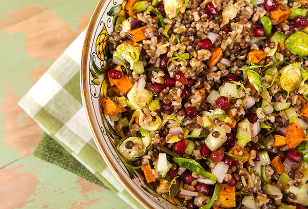 Eating lentils on New Year's is an Italian tradition. This hearty lentil salad is a meal in a bowl.
