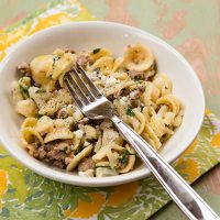 Orecchiette Pasta With Cauliflower & Sausage