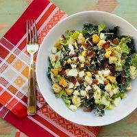 Lighter Kale Caesar Salad