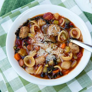 Meatball Minestrone Soup