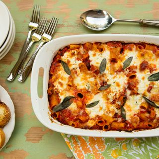 Baked Pasta With Butternut Squash & Ricotta Cheese Pockets