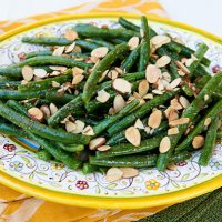Green Beans With Mustard Vinaigrette & Toasted Almonds