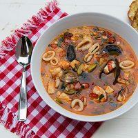 Sicilian Seafood Soup With Couscous
