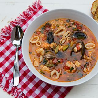 Sicilian Seafood Soup With Couscous