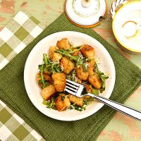 Pan Fried Potato Gnocchi With Lemon