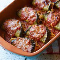 Spaghetti Stuffed Eggplant Rollups {Involtini di Melanzane}