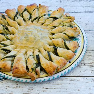 Sunflower Spinach Puff Pastry Tart