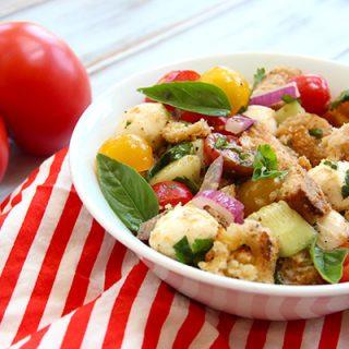 Grilled Panzanella Caprese Salad