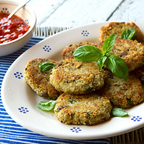 Eggplant Patties With Fresh Garden Tomato Sauce