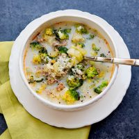 Broccoli Sausage Soup