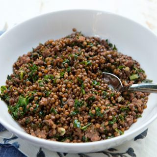 Braised Umbrian Lentils With Sausage & Kale