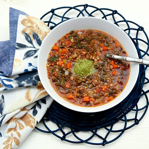 New Year's Day Lentil & Farro Soup