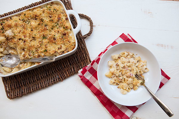 A creamy baked pasta dish the entire family will love.