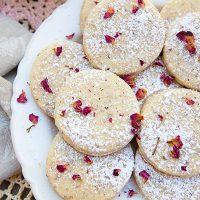 Rose Petal & Vanilla Bean Shortbread Cookies