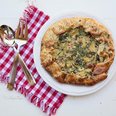 Spinach & Artichoke Rustic Tart