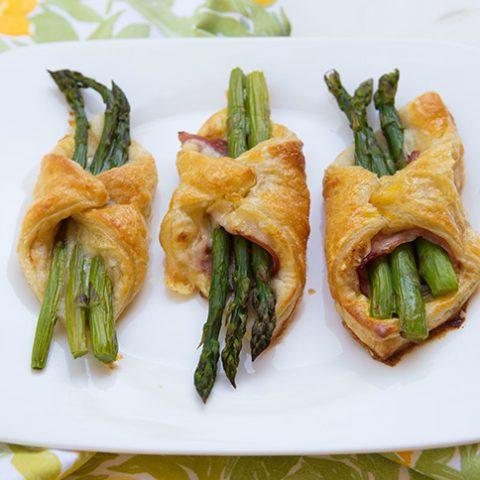 Asparagus, Ham, & Cheese Puffs