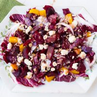 Beet, Radicchio, & Gorgonzola Salad With Blood Orange Vinaigrette