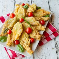 Caprese Stuffed Zucchini Flowers