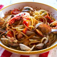 Pasta With Venetian Red Shrimp & Clams