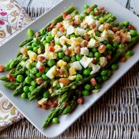 Asparagus, Pea Salad with Eggs & Pancetta In A Mustardy Vinaigrette