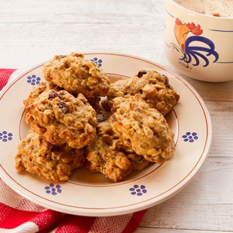 Applesauce Oat Raisin Cookies